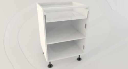 Base 2 Door 1 Drawer Standard